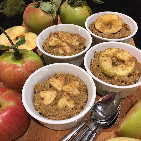 Apple Pie Oatmeal made with Complete Whey Protein!