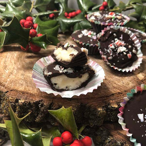 Homemeade Peppermint Patties made with Complete Whey Protein Powder!