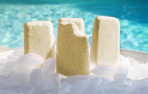 Piña Colada Pops with a Kick!