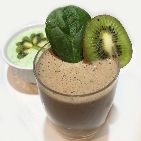 Boost your immune system with a Shamrock Kiwi Smoothie made with Complete Whey Protein!