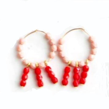 Hoop Earrings - Blush