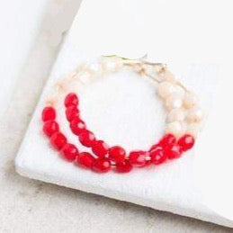 Hoop Earrings - Red