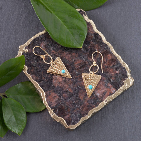 Hanging Triangle Earrings