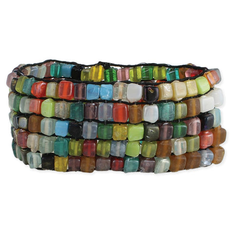 Mosaic Bead Stretch Bracelet