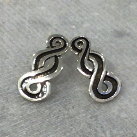 Sterling silver braided earrings