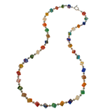 Mille Fiori Cube Necklace - Long