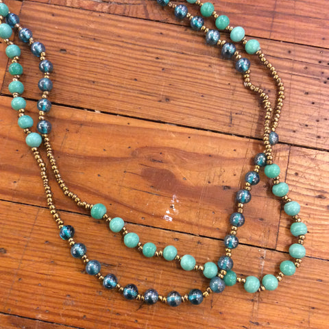 Two Shades Blue Necklace