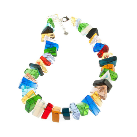 Multicolor Quartz Chip Necklace