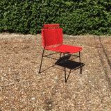 Elastic Rope Colorful Metal Chair - Red