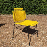 Elastic Rope Colorful Metal Chair -  Yellow