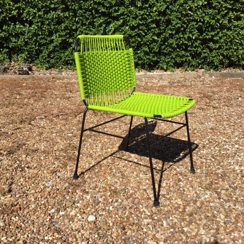 Elastic Rope Colorful Metal Chair - Green