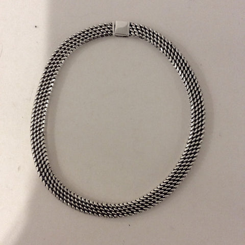 Snake Chain Silver Necklace
