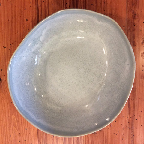 "12"" Round Bowl in Speckled Gray"