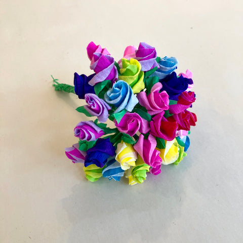 Small Mexican Paper Flower Bouquet - Multicolored