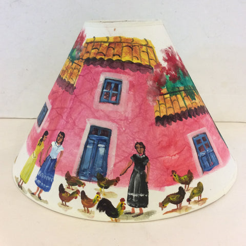 Mexican Coutryside Pyramidial Lampshade - Medium