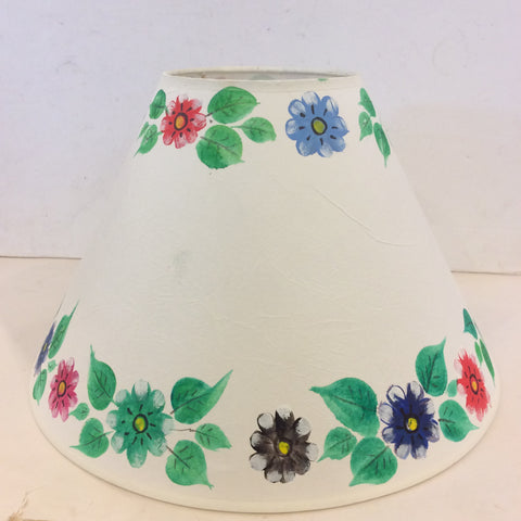 Mexican Painted Flowers  Pyrimidial Lampshade - Large