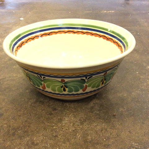 Gorky Bowl with Green Leaves Pattern - Large