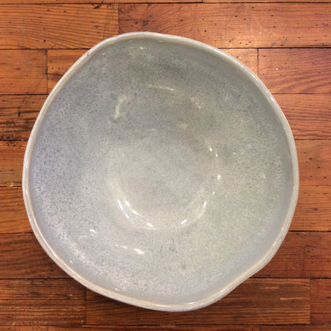 "9"" Round Bowl - Speckled Blue"