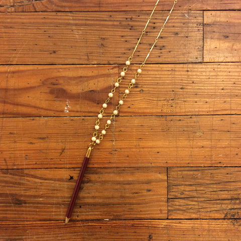 Vintage Pencil Necklace