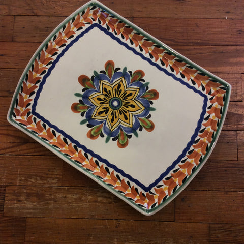 Tampiquena Plate with Flower