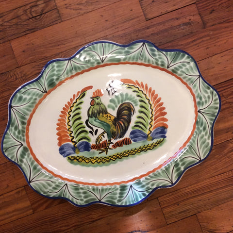 Gorky Cut Flat Platter with Rooster