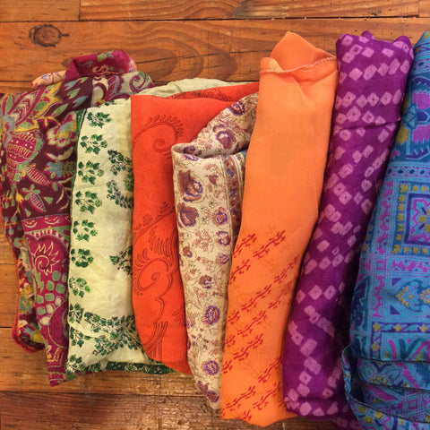 Assorted Printed Silk Scarf