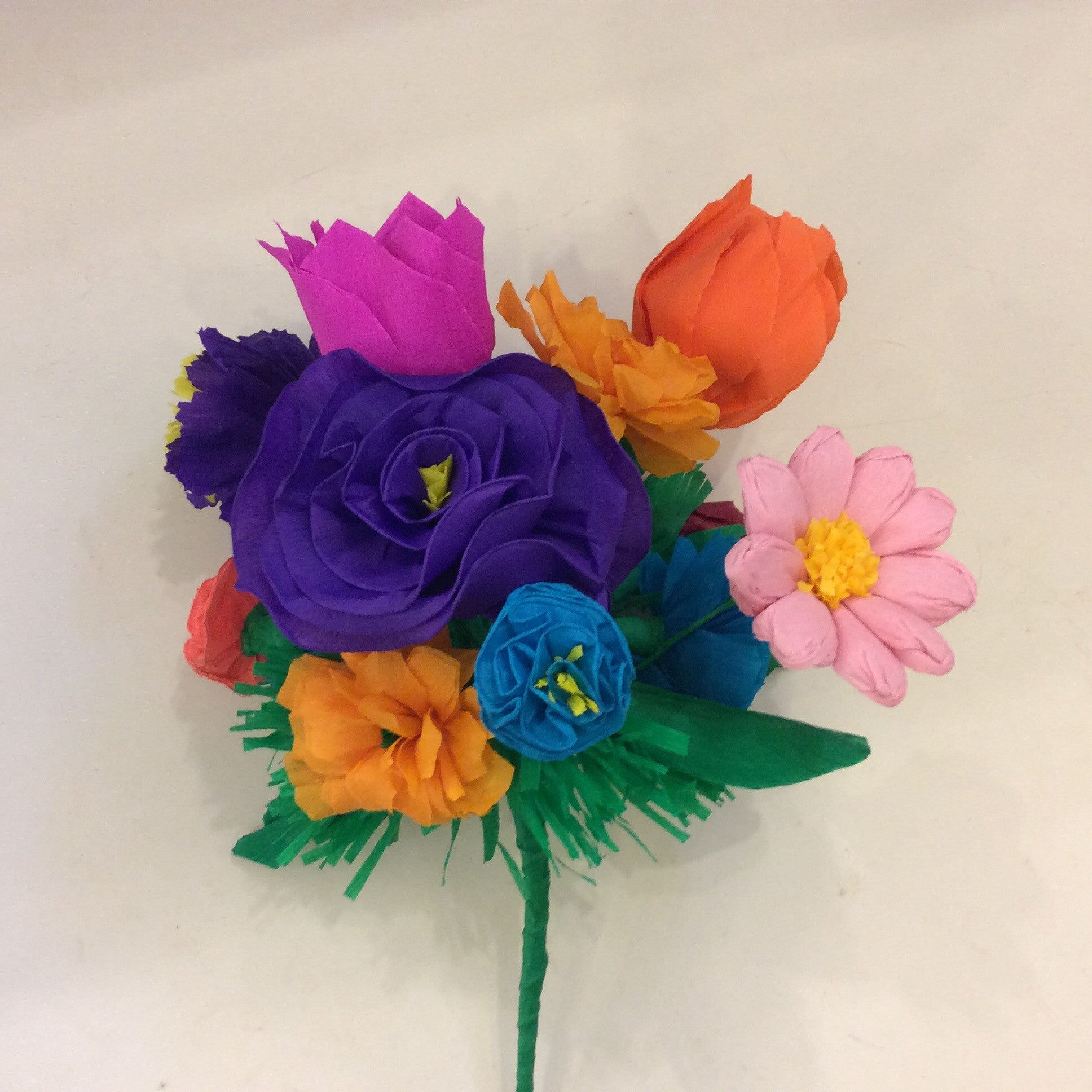 Mexican Paper Flower Bouquet Willdflower Bunch Surroundingshouston