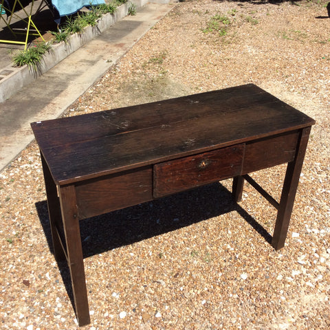 SALE - Dark Brown Wood Console Table with Drawer from Guatemala