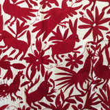 X-Large Otomi Embroidery Wall Hanging - Red