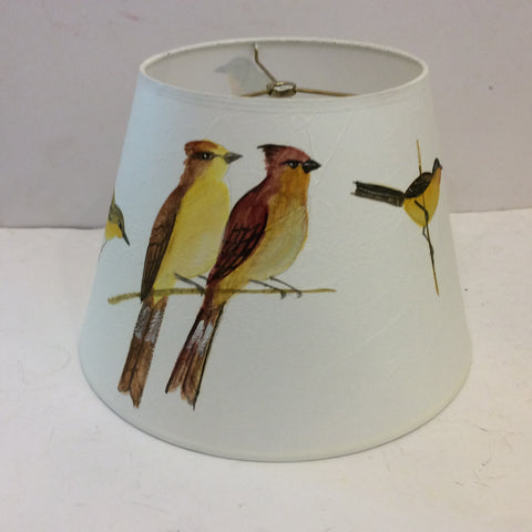 Birds on Branches Painted Lampshade - Medium