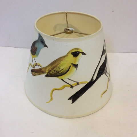 Birds on Branches Painted Lampshade - Small