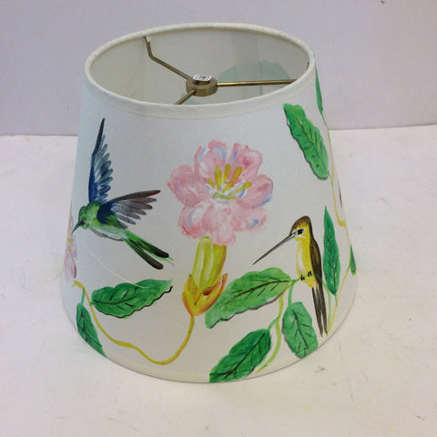 Hummingbirds and Flowers Lampshade - Small