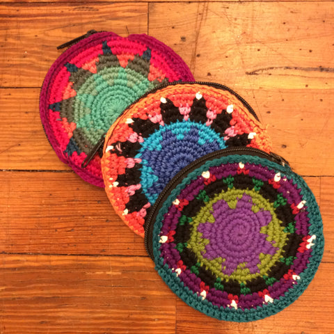 Round Guatemalan Coin Purse