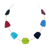 Frosted Glass Choker Necklace - Autumnal