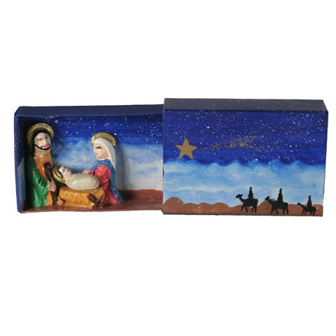 Nativity Matchbox with Three Kings