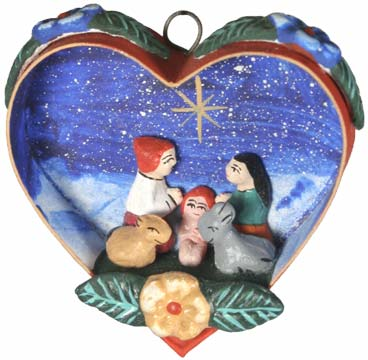 Heart Nativity Ornament from Peru