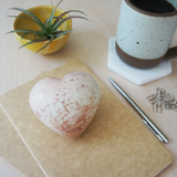 Large Heart Paperweight Natural Soapstone