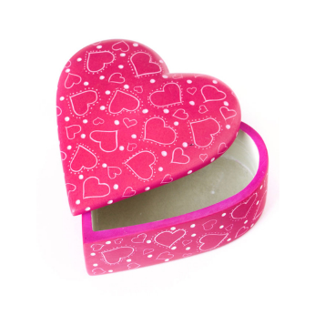 Much Love Soapstone Heart Box - Pink