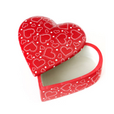 Much Love Soapstone Heart Box - Red
