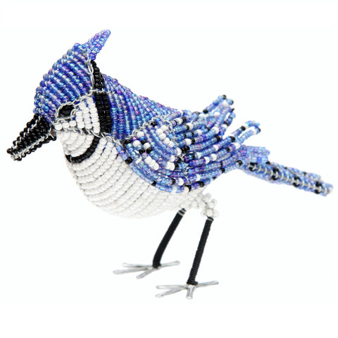 Beaded Blue Jay