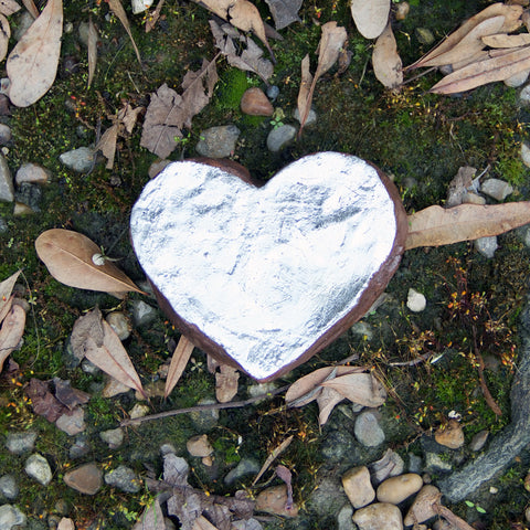 Large Silver Heart