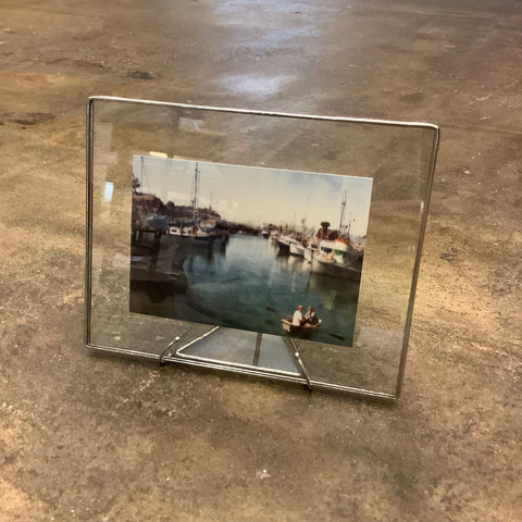 "5.5"" x 7"" Glass Frame (Clear in Silver)"