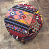 Medium Turkish Kilim Ottoman / Footstool