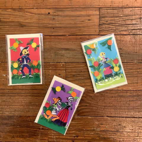 Handmade Tiny Card - Skeletons