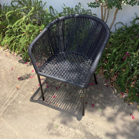 Square Rope Metal Chair