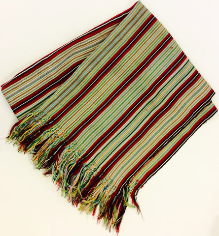 Guatemalan Textile with Tasseled Edges