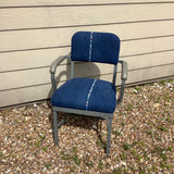 Vintage Metal Chair with Guatemalan Upholstery