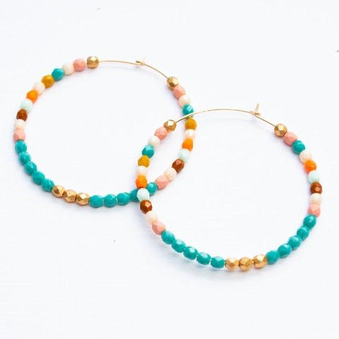 Hoop Earrings - Turquoise
