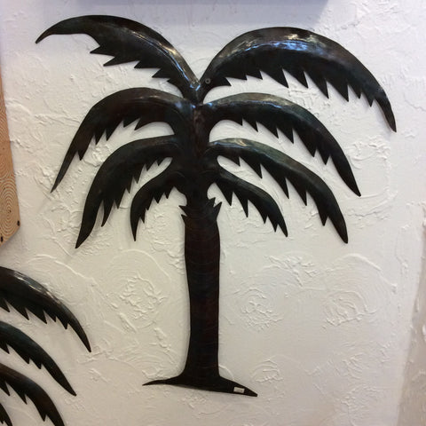 Metal Coconut Palm Tree from Haiti