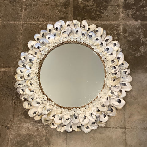 Oyster Shell Mirror from the Philippines